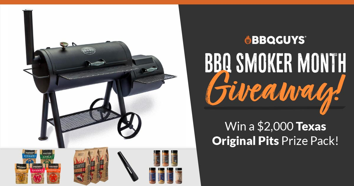 Enter to win a $2,000 Texas Original Pits prize pack including a Texas Original Pits Offset Smoker!
