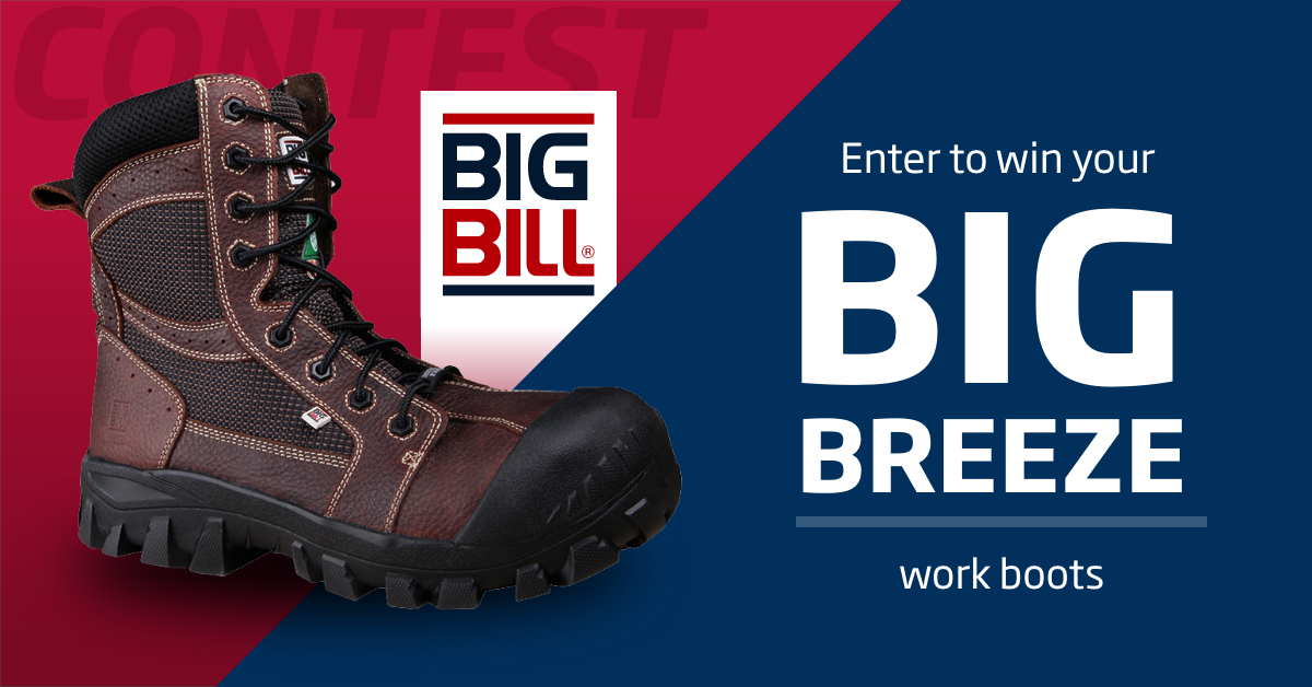 Win your pair of Big Breeze work boots by Big Bill!